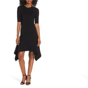 NWT Vince Camuto Ribbed Asymmetric Elbow Dress